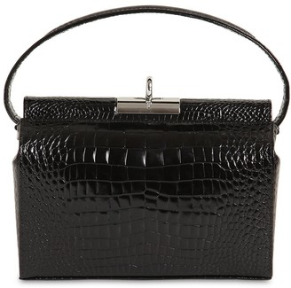 Gu_de Milky Croc Embossed Leather Bag