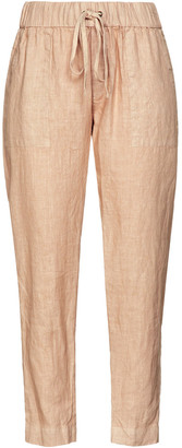 Enza Costa Gathered Linen Tapered Pants