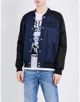 True Religion Contrast Shell Bomber Jacket