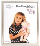 Inov-8 Inov8 British Made Traditional Picture/Photo Frame, 12x10-inch, Value Silver