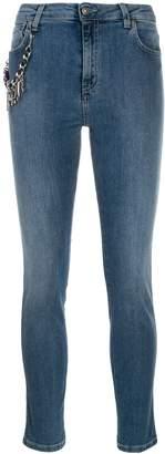 Gaelle Bonheur logo charm skinny jeans