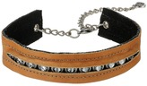 Leather Rock N308 Necklace