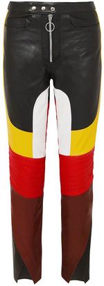 Marques Almeida Color-block Leather Straight-leg Pants