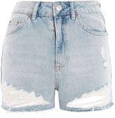 Topshop MOTO Ripped Mom Shorts