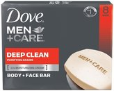 Dove Men + Care Body And Face Bar, Deep Clean, 4 Ounce, 8 Count by
