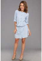 DKNY Chambray Stripe Shirtdress (Indigo) - Apparel