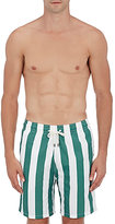 Solid & Striped MEN'S THE CALIFORNIA STRIPED SWIM TRUNKS-TURQUOISE SIZE S