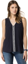 Tommy Hilfiger Final Sale-Piped V-Neck Shell