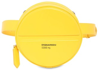 DSQUARED2 Pills Round Leather Belt Bag