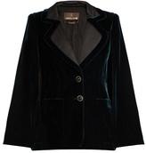 Roberto Cavalli Velvet tailored cape