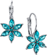 2028 Silver-Tone Floral Crystal Drop Earrings, a Macy's Exclusive Style
