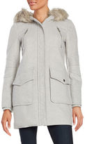 BCBGeneration Faux Fur Trimmed Duffle Coat