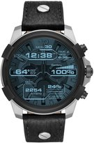 Diesel On Full Guard Leather-Strap Smart Watch