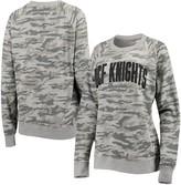 Unbranded Women's Pressbox Camo UCF Knights Gulfport Applique French Terry Crew Neck Sweatshirt