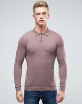 Asos Knitted Turtleneck Sweater in Muscle Fit