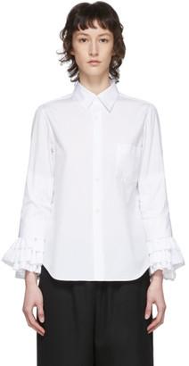 Comme des Garçons Comme des Garçons White Broad Ruffle Cuffs Shirt