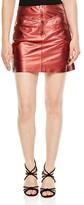 Sandro Music High-Shine Mini Skirt