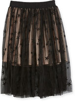 Stella McCartney Amalie Star-Print Tulle Skirt, Size 4-14
