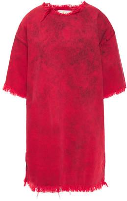 Marques Almeida Frayed Acid-wash Denim Mini Dress