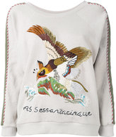 As65 embroidered bird jumper