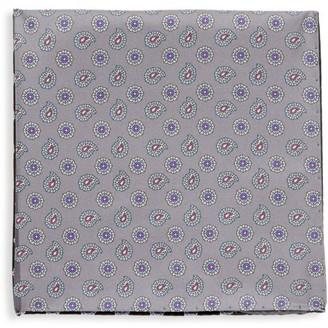 Eton Quadrant Micro Paisley-Print Silk Pocket Square