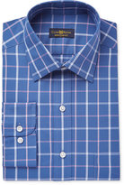 Club Room Men's Classic-Fit Wrinkle Resistant Plaid Dress Shirt, Only at Macy's