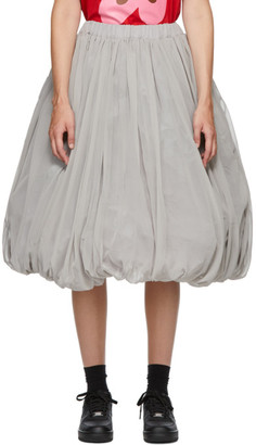 Comme des Garcons Grey Georgette Balloon Midi Skirt