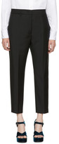 Jil Sander Black Cropped Donald Trousers