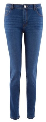 Dorothy Perkins Womens Blue 'Ashley' Stretch Straight Leg Jeans, Blue