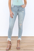 Celebrity Pink Distressed Skinny Jeans