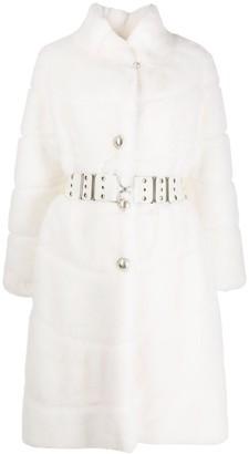 Ermanno Scervino Faux Fur Belted Coat