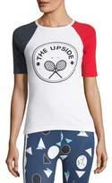 The Upside Colorblock Crewneck Short-Sleeve Tennis Tee