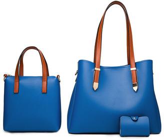 Ella & Elly Women's Handbags Blue - Blue Shoulder Bag Set