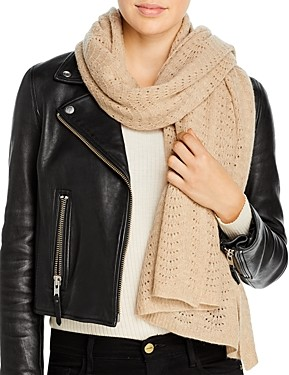 C by Bloomingdale's Pointelle Knit Wrap Scarf - 100% Exclusive