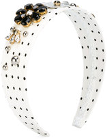 Dolce & Gabbana embellished headband - kids - Cotton/Spandex/Elastane - One Size