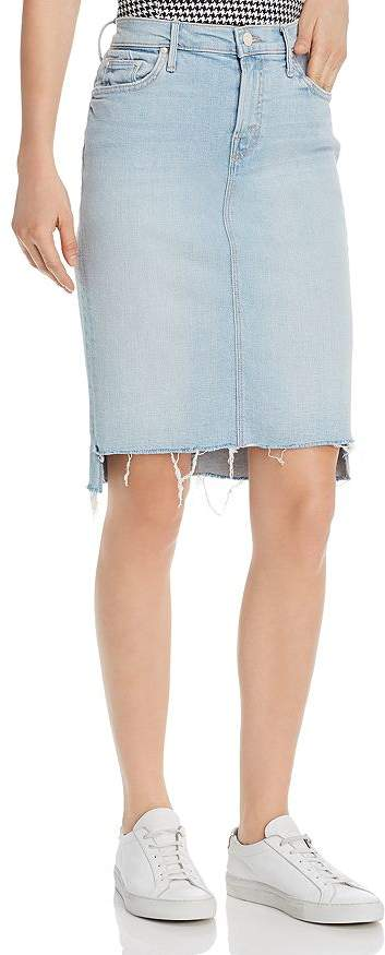 cfb3893665 Frayed Hem Denim Skirt - ShopStyle