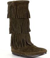 Minnetonka Calf Hi 3-Layer Fringe Boots