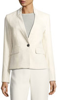 Veronica Beard Tate Upcollar One-Button Blazer