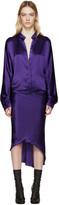 Haider Ackermann Purple Silk Dress