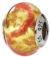 Murano Prerogatives Sterling Pink & Gold Italian Glass Bead