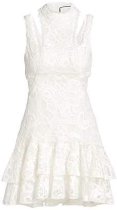 Alexis Kirsi Lace Cutout Mini Dress