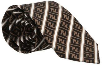 Fendi FF striped tie