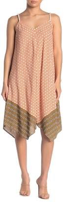 MSK Geometric Chain Print Challis Rope Shoulder Strap Dress
