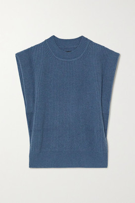 Isabel Marant Bridget Ribbed Cashmere And Wool-blend Sweater - Blue