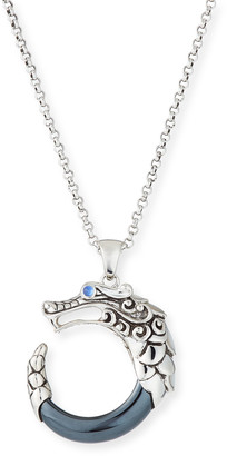 John Hardy Legends Naga Hematite Pendant Necklace
