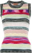 Missoni glitter stripe sleeveless top