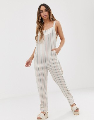 Tavik elodie stripe printed beach jumpsuit-Blue