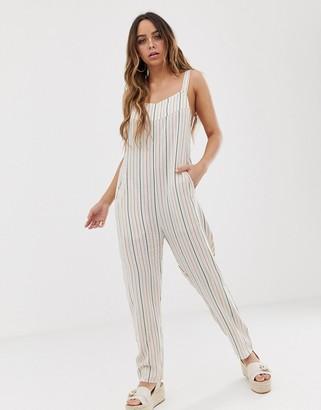 Tavik elodie stripe printed beach jumpsuit