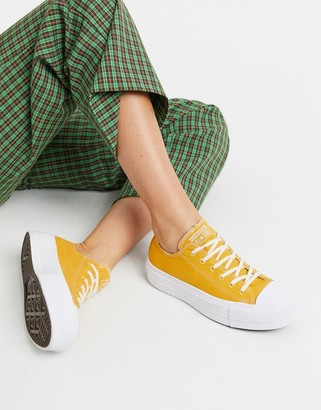 Converse Chuck Taylor Lift Platform Renew yellow trainers