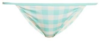 Solid & Striped The Kate Gingham Bikinibriefs - Womens - Light Blue